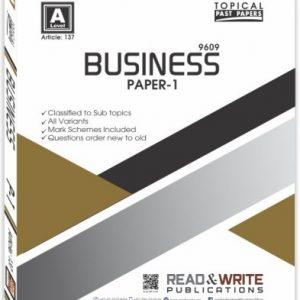 Business Paper-1 Past Paper