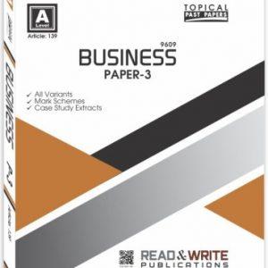 Business Paper-3 Past Paper