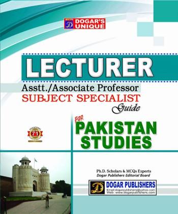 Lecturer Pakistan Studies Dogar
