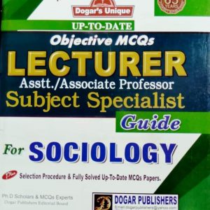 Lecturers Assist/ Associate Professor Subject Specialist Guide for Sociology